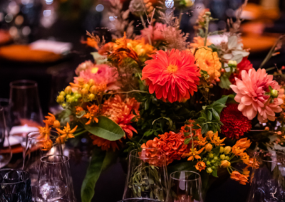 Orange bunch of flowers on table