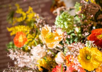 Bright orange and yellow flowers
