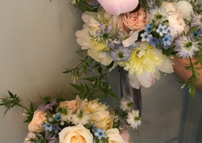 Light pink and blue bouquet