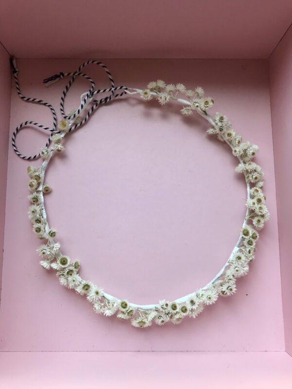 Girls flower headband in box - White